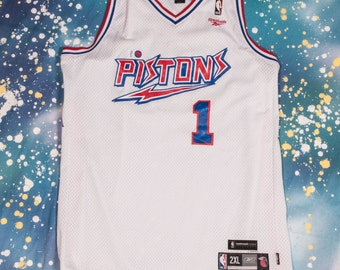 PISTONS #1 Billup Basketball Jersey Size  2XL