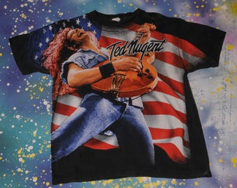 TED NUGENT One Nation Under Ted T-Shirt Size Xl