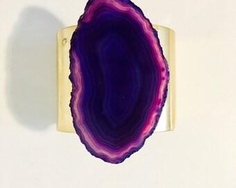 Purple Agate Cuff