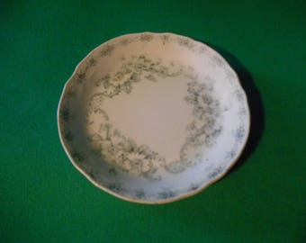 """Four (4), 3 1/4"""" Diameter, Butter Pats, from Alfred Meakin, in the Mentone Blue Pattern."""