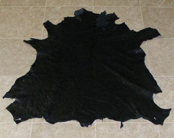 VZA6913-5) Hide of Black Lambskin Leather Skin