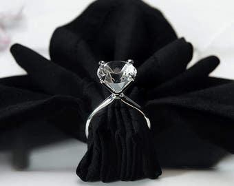 Engagement Party Napkin Rings, Wedding Napkin Rings, Floral Embellishments, Napkin Holders, Reception Table Napkin Holders, Napkin Rings