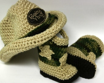 Custom Camo Cowboy Hat and Boots