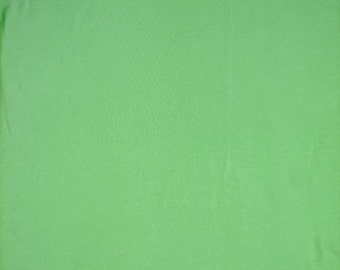 Cotton Jersey Stretch Spandex Pastel Green 58 Inch Fabric by the yard - 1 Yard