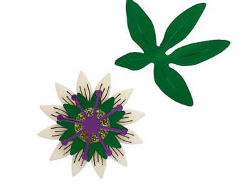 Passion Flower brooch