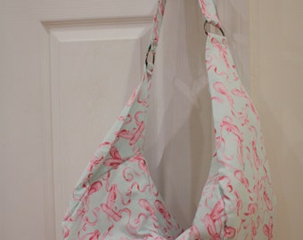 Ballet Themed Slouchy Hobo Bag
