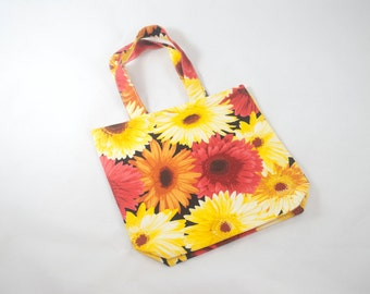 Small Project Bag - Fire Flowers