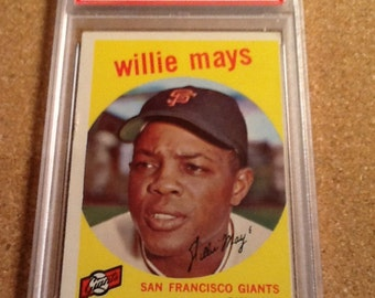 1959 topps #50 willie mays psa 4 vg-ex baseball card san francisco giants