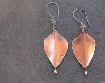Shield earrings, Resistance jewelry, Nasty woman earrings, copper tribal shield earrings, Rustic modern tribal copper shields dangle earring