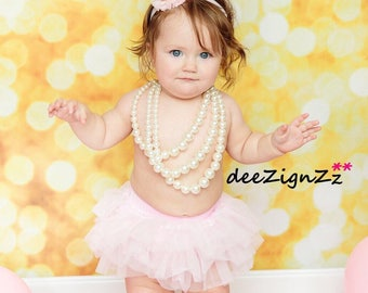 Photo prop, first birthday, baby bloomers, pink, tutu, gold, crown headband, diaper cover, ruffle, 1st birthday, barefoot sandals, outfit
