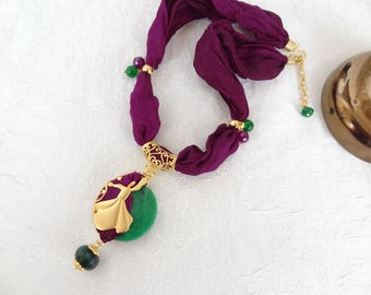 Gold Whirling Dervish Necklace,Semazen Necklace,Turkish Purple Silk Necklace,Frame Necklace,Sufi,Elegant,Feminine Necklace,Mother's Day Gift