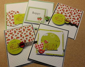 Set of 5 friendship cards