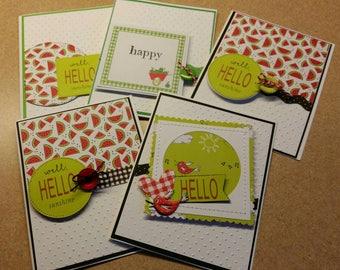 Set of 5 friendship cards