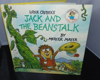 Vintage 1991 Little Critters Jack and the Beanstalk Mercer Mayer HC Lift the Flap Picture Book
