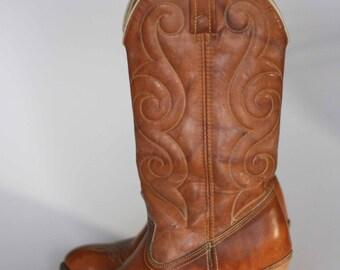 vintage acme high heel cowboy boots size 5.5M