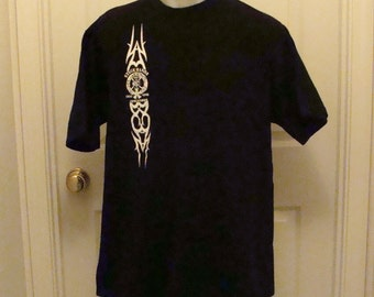 Stagehands Local #1 New York Men's Black Tee Shirt Size XL, Vintage and Authentic Shirt Tribal Graphics