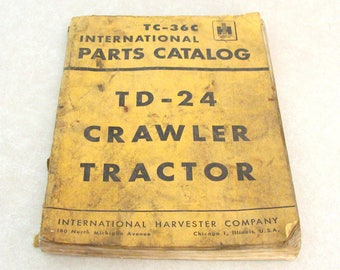 Original 1950's? IH International Harvester Tractor Crawler Parts Catalog TC-36C