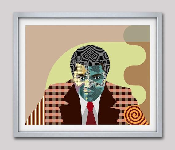 Muhammad Ali Art, Muhammad Ali Canvas Art Print, Muhammad Ali Poster, Boxing Poster Decor, African American Wall Art, Cassius Clay