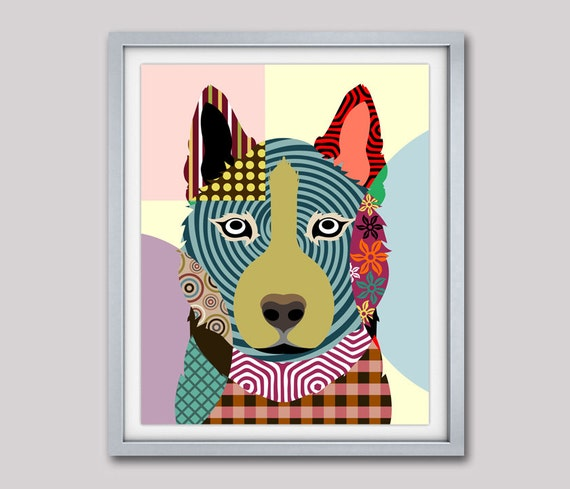 Siberian Husky Dog, Siberian Husky Art, Siberian Husky Gift, Dog Pop Art, Dog Poster, Dog Lover Gift, Pet Poster