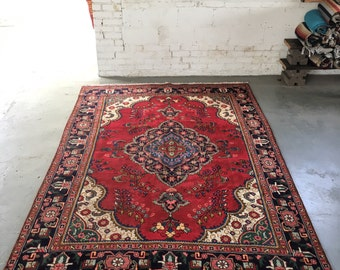 "SHIPS FREE! Vintage Persian Oriental Area Rug - 9'9""""x6'2"""