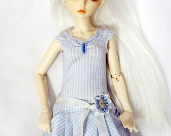 LE 3 Blue white Dress for MiniFee, Ellowyne Wilde, Tonner and other MSD 16 inches doll