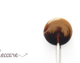 Coffee Addict // 12 Coffee Caramel Lollipops // Sweet Caramel // Coffee Love // Spring Wedding Favor // Summer Wedding  // Fall Wedding
