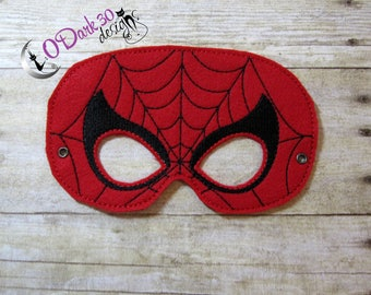 Spiderman Inspired Childrens Dress Up Mask