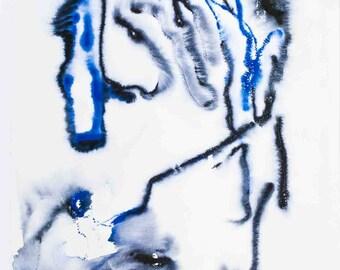 Henri Michaux-Galerie Lelong-1988 Poster