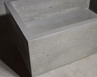 Quarry Concrete And Travertine Stone Vanity Sink Bathroom Ramp Sloped Custom From