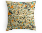 DUBLIN MAP, Throw pillow for your modern home decor (ivory version)