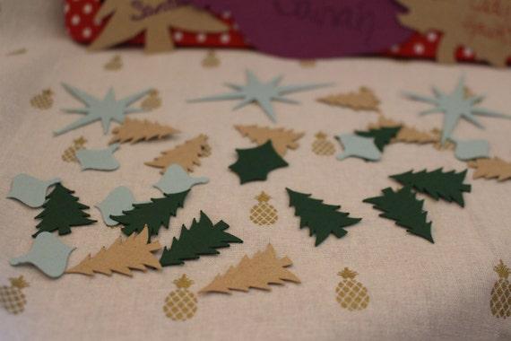 Pack Of 25 Mini Kraft Brown Paper Bag Christmas Tree Table
