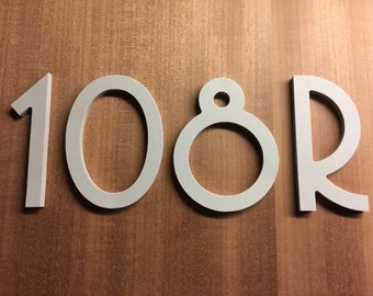 3 inch Magnetic Art Deco Numbers Letters for doors, houses, mailboxes, address