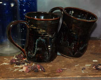 Handmade Pottery Stoneware Coffee Mug Set
