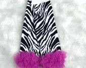 CLEARANCE SALE - Baby Girl Leg Warmers Zebra Fuchsia Leggings Baby Girl Clothes Baby Gift Baby Clothes