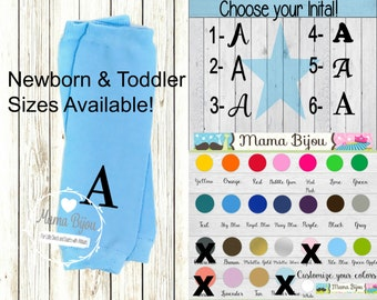 Personalized Monogram Baby Leg Warmers Boy, Baby Boy Clothing, Newborn or Toddler Leg Warmers, Baby Leggings  - Customize Your Own