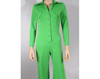 1970 Reinette green Jumpsuit  extra small mixed wool