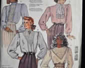 1980's Elegant Blouses in 4 Styles - Size 16 - UNCUT - McCall's 3239