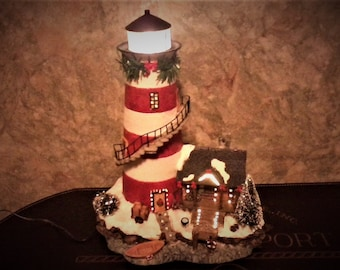 Electric Holiday Lighthouse/Christmas/Seashore/Lighthouse