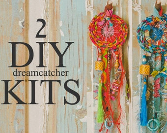Handmade Dream Catcher, Crafts For Kids, Art And Craft For Kids, DIY For Kids, Projects For Kids, DIY Wall Decor, Fabric Ornaments, DIY Kit