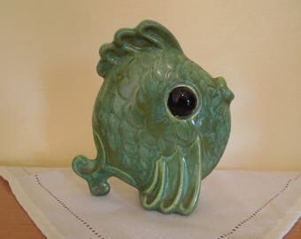 Vintage Anthropomorphic Angel Fish Vase
