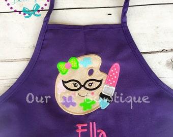 Personalized Art Apron - Personalized Apron - Personalized Kids Apron - Chef Birthday - Paint Apron - Toddler Apron- Artist Apron