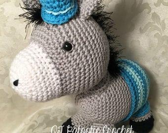 Dexter the Donkey stuffed toy-crocheted