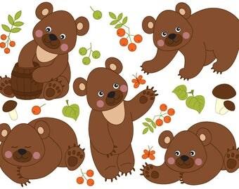 Bear clip art | Etsy