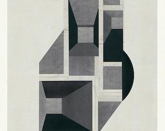 Modern Art, Mid Century, Abstract art, Minimalist, Architectural Print, Wall art print, limited edition (20)