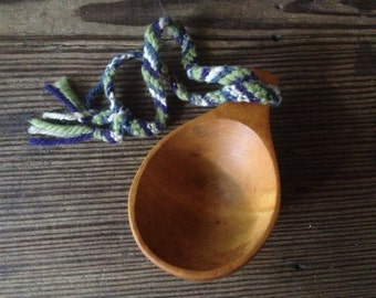 Handmade Wooden Bushcraft Cup Camping Hiking Outdoor Survivalist Gear Handcarved