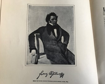 1904 Franz Schubert Sheet Music Book, Fifty Songs for High Voice, Collectible and Rare