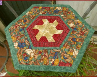 Quilted Christmas Table Topper Joyful Angels 185