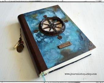 Watercolor journal, Sea diary, captain's log, nautical journal, travelogue, travel journal,  travel diary, notebook, sketchbook, explore