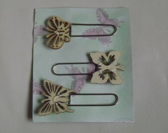 decorative paperclips with chipboard butterflies great for journals, planning and organising