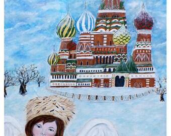 "Original Fine Art 8 x 10 print called ""Earth Angel Natasha from Russia"" by Charlotte Phillips"
